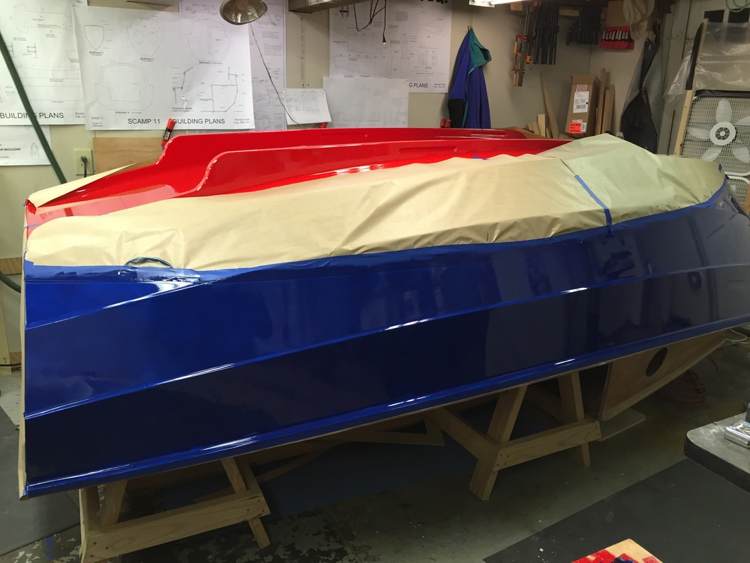Craigs scamp build scamp build on to the topsides paint nvjuhfo Choice Image
